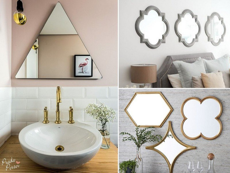 Mirrors with Geometric Shapes