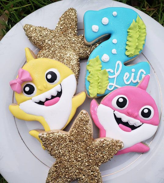 Babies Shark Party Cookies