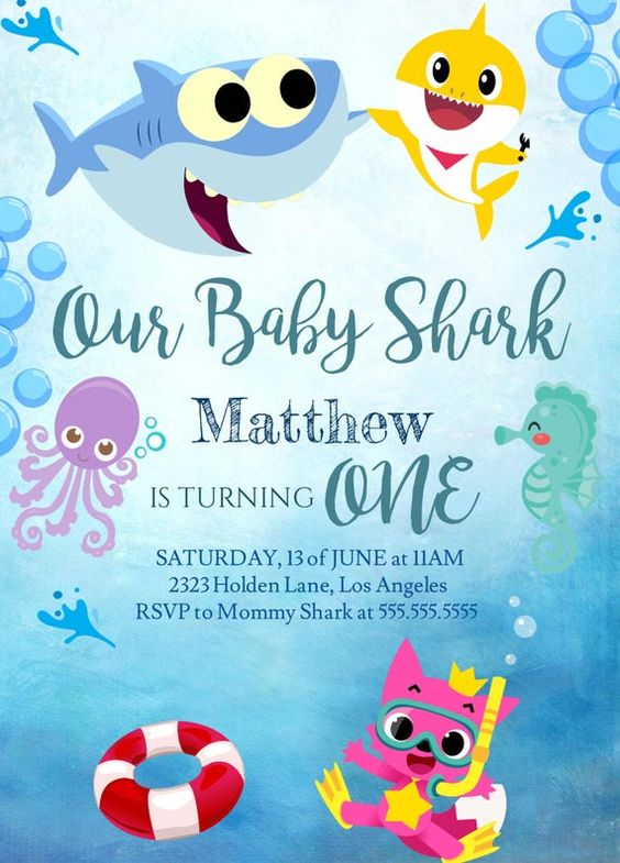 Babies Shark Invitation
