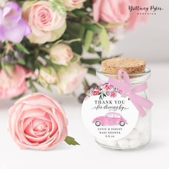 Baby Shower Favors Candies Sweet Pot