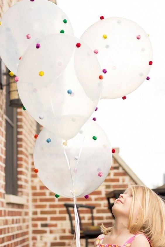 Balloon Decoration with PomPom
