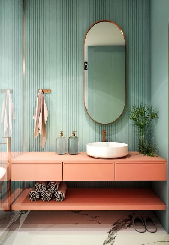 How To Bring Color To The Bathroom