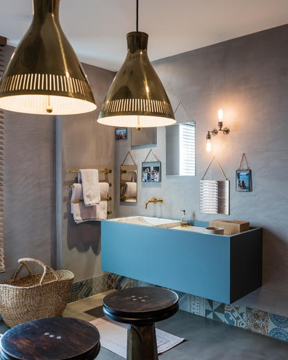 Bathroom With Pendant Lights