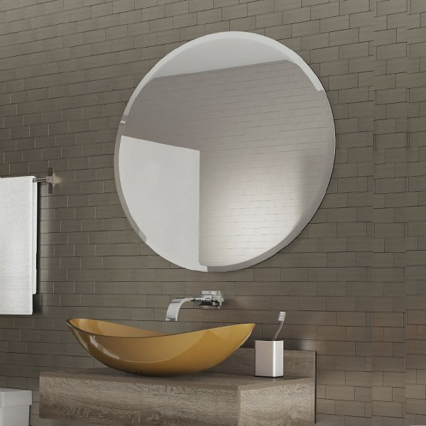 Faceted Bathroom Mirror
