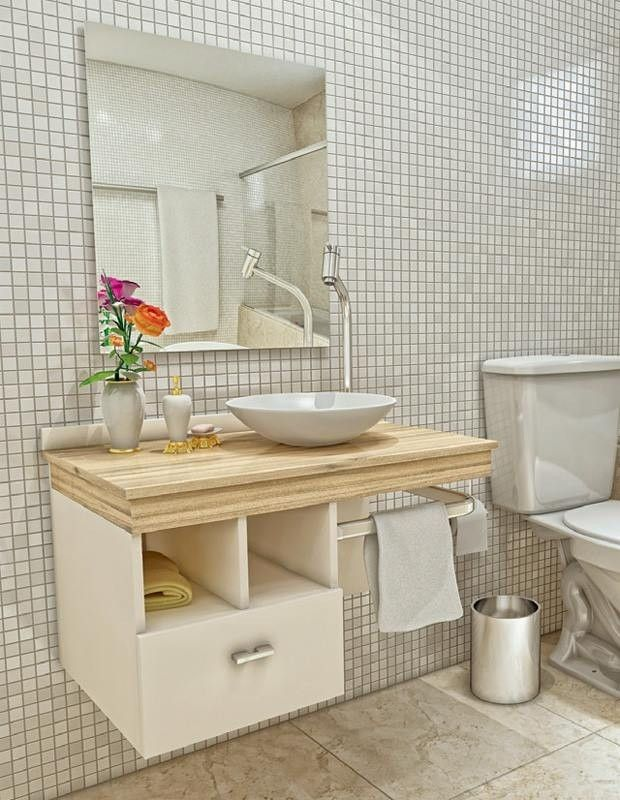 Square or Rectangular Bathroom Mirror