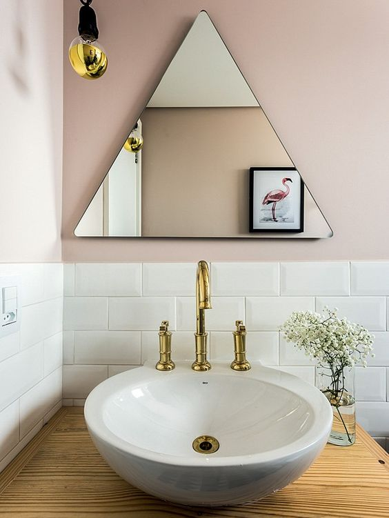 Triangle Bathroom Mirror