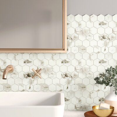 White Bathroom Tiles With Inserts