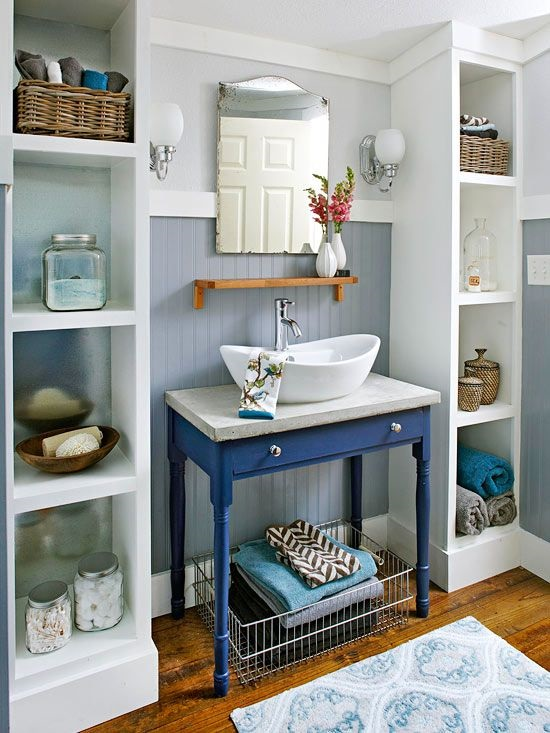 How to Organize a Small Bathroom Vanities