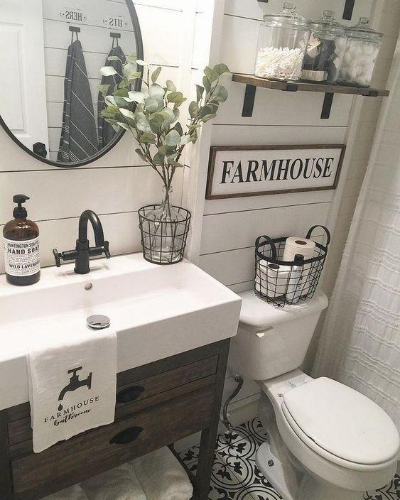 Bathroom Vanities with Decoration Rustic