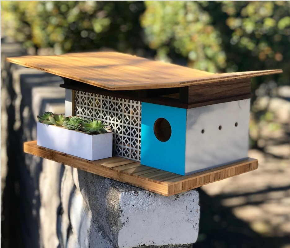 The Highlight For The Birdhouse Design Made With Bamboo