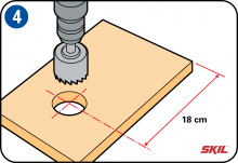 Step 4: Drill the entry hole
