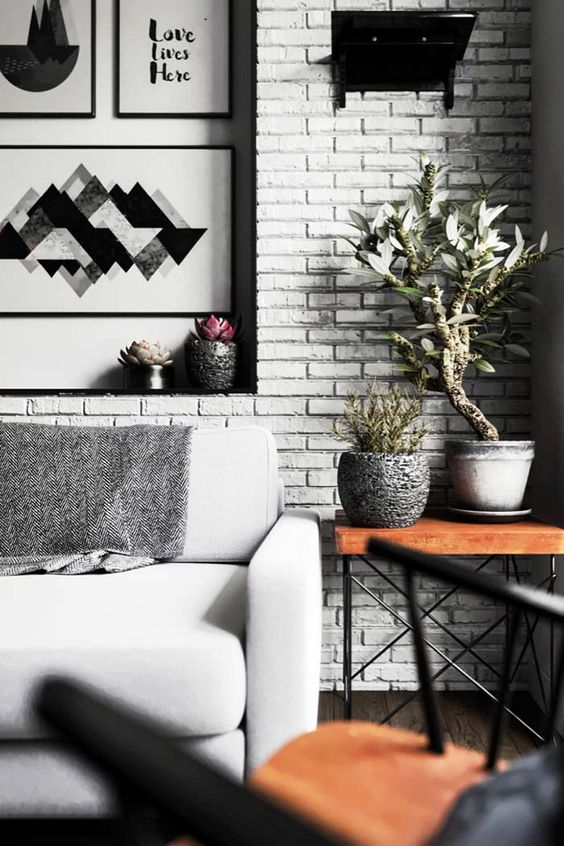Black and White Combinations In The Living Room