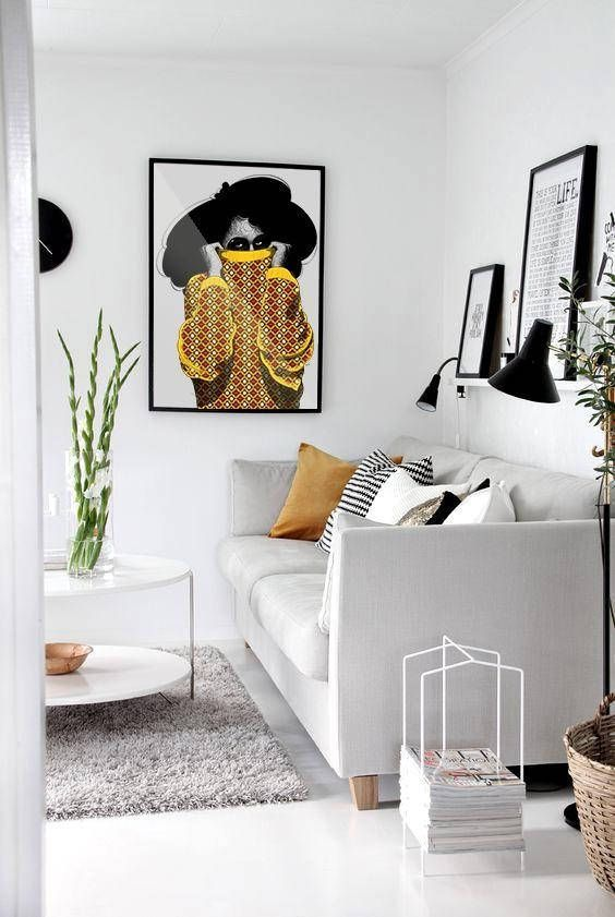 Don't Want To Overdo The Black And White Style In The Living Room?