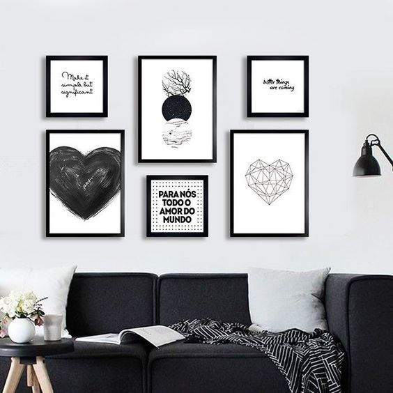 Is The Black And White Idea To Dare In The Style Of The Living Room?