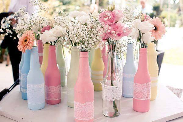 Bottles With Party Balloon
