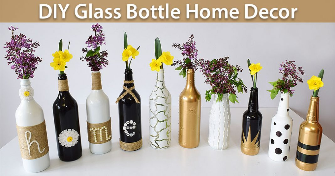 How To Decorate The House With Bottles?