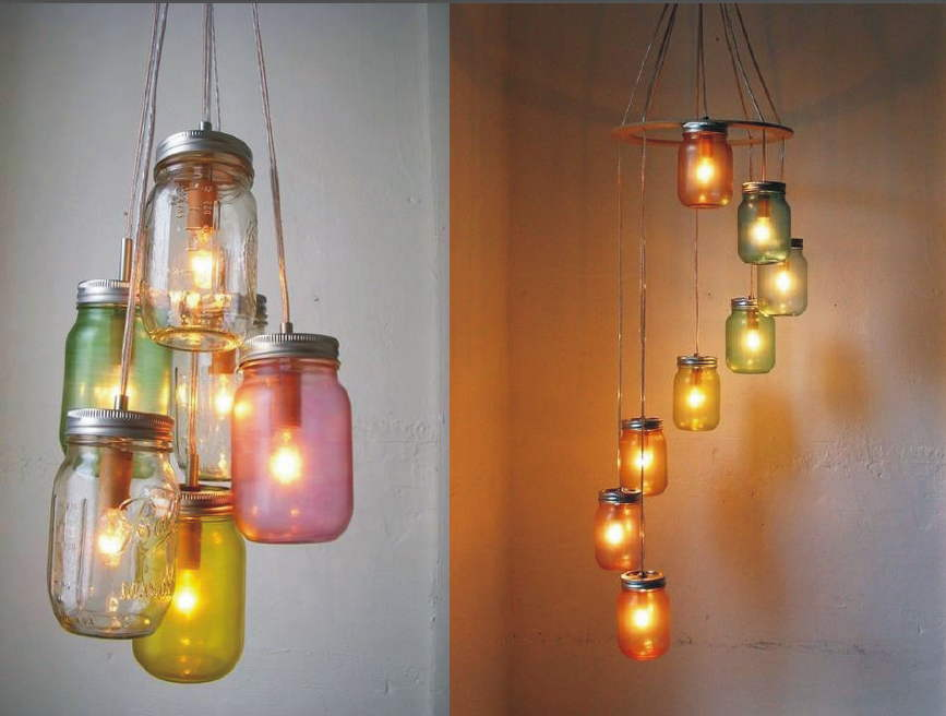 Pendant Chandeliers With Bottles