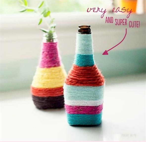 Bottles With String