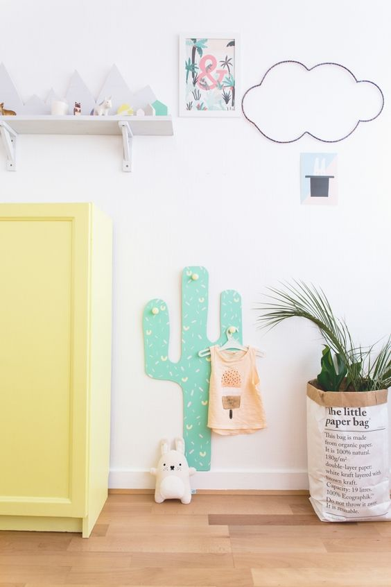 How did the cactus decoration for the baby room come about