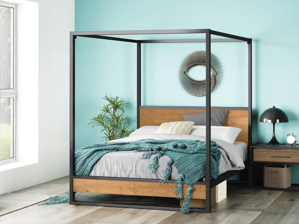 Styles Of Canopies Beds For Double Bedroom Modern