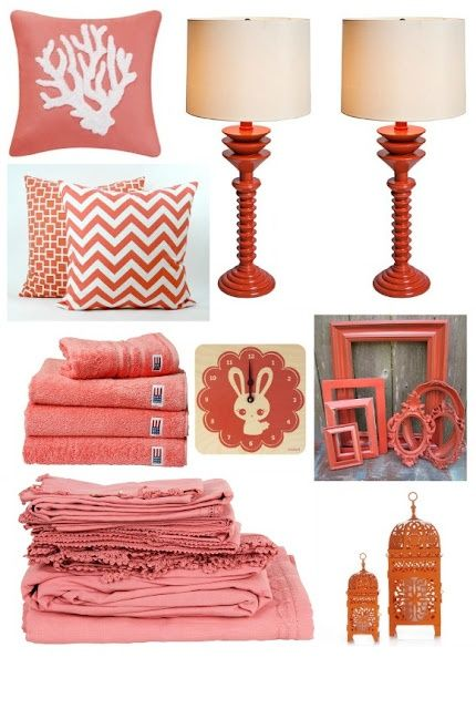 Coral Color Paint In The Bedroom 2