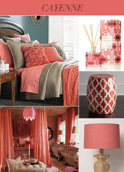 Coral Color Paint In The Bedroom