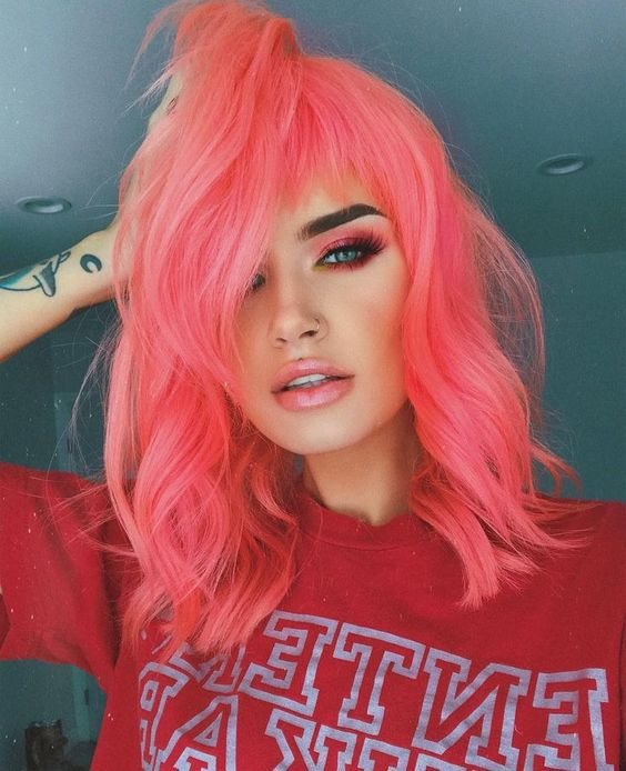 Coral Color Hair