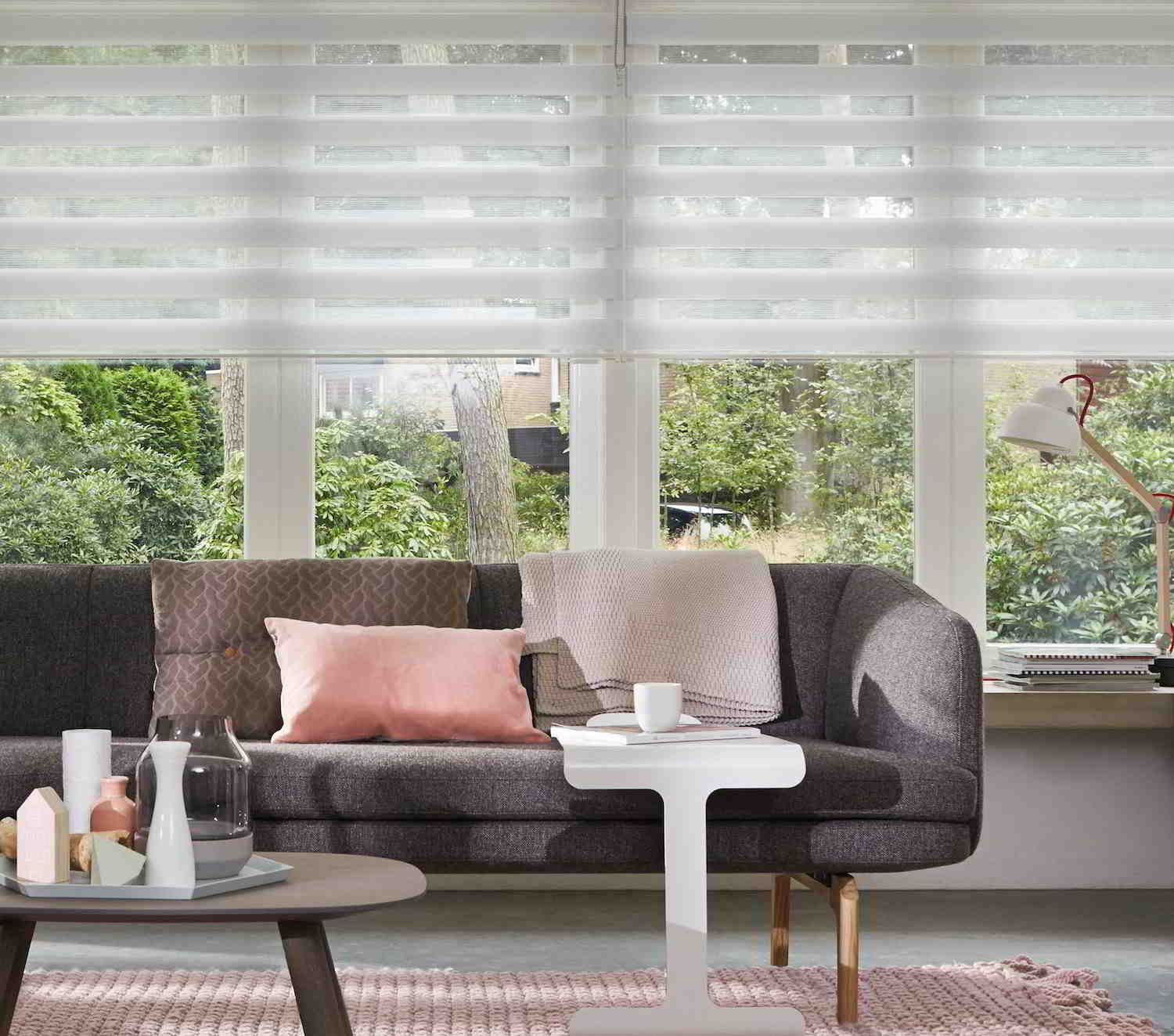Modern curtains with a mix of styles