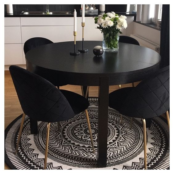 Dining Chairs Black 3
