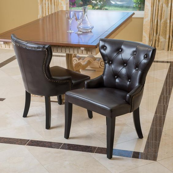 Dining Chairs Leather 2