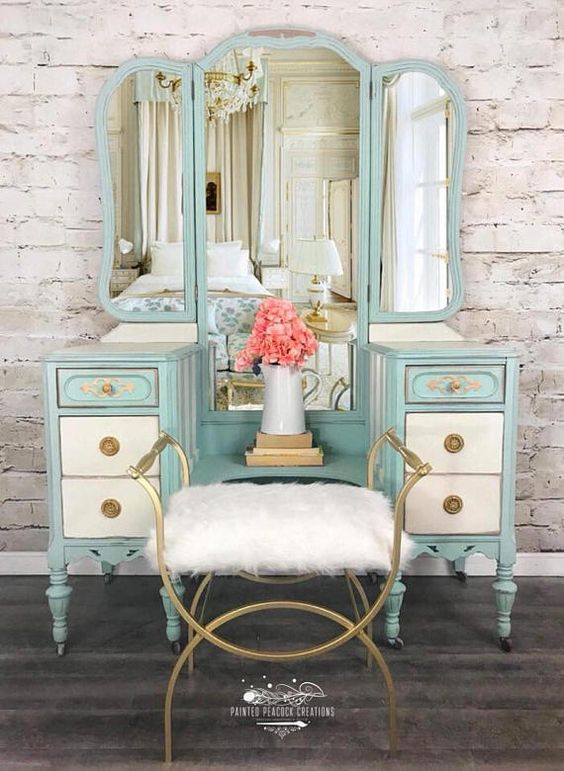 Dressers Mirror in Provençal Style