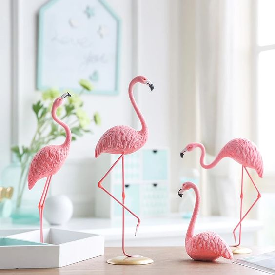 How to Use Charming Flamingos in Decoration
