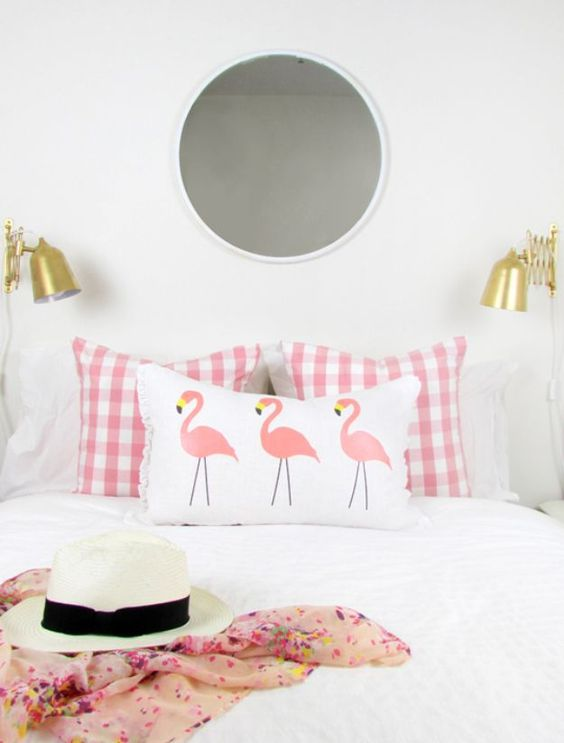 Flamingos Bedspreads and Pillows