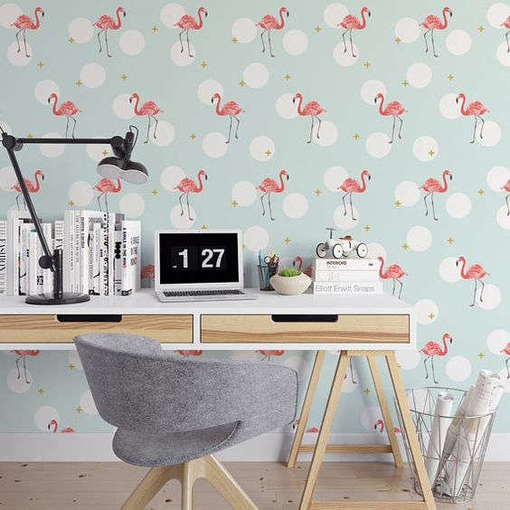 Flamingos Wall Stickers and Frames