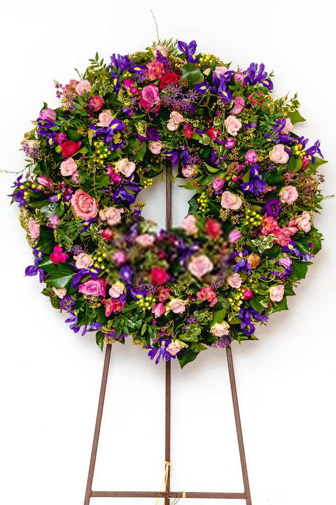 Flower For Funeral Arrangements With Standing Easel