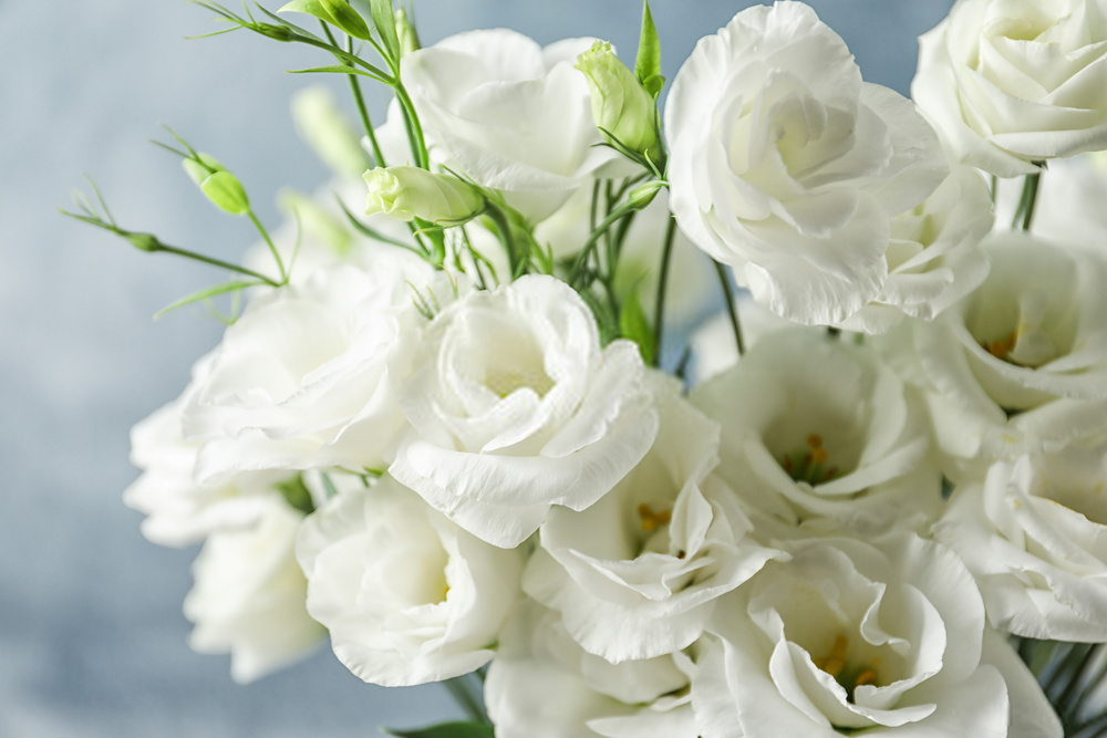Flower For Funeral With Lisianthus