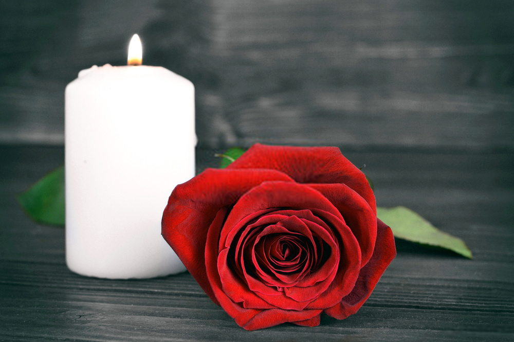 Flower For Funeral With Red Roses