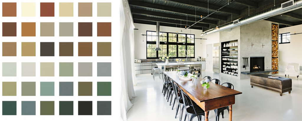 Home Decorating Styles in Industrial Colors