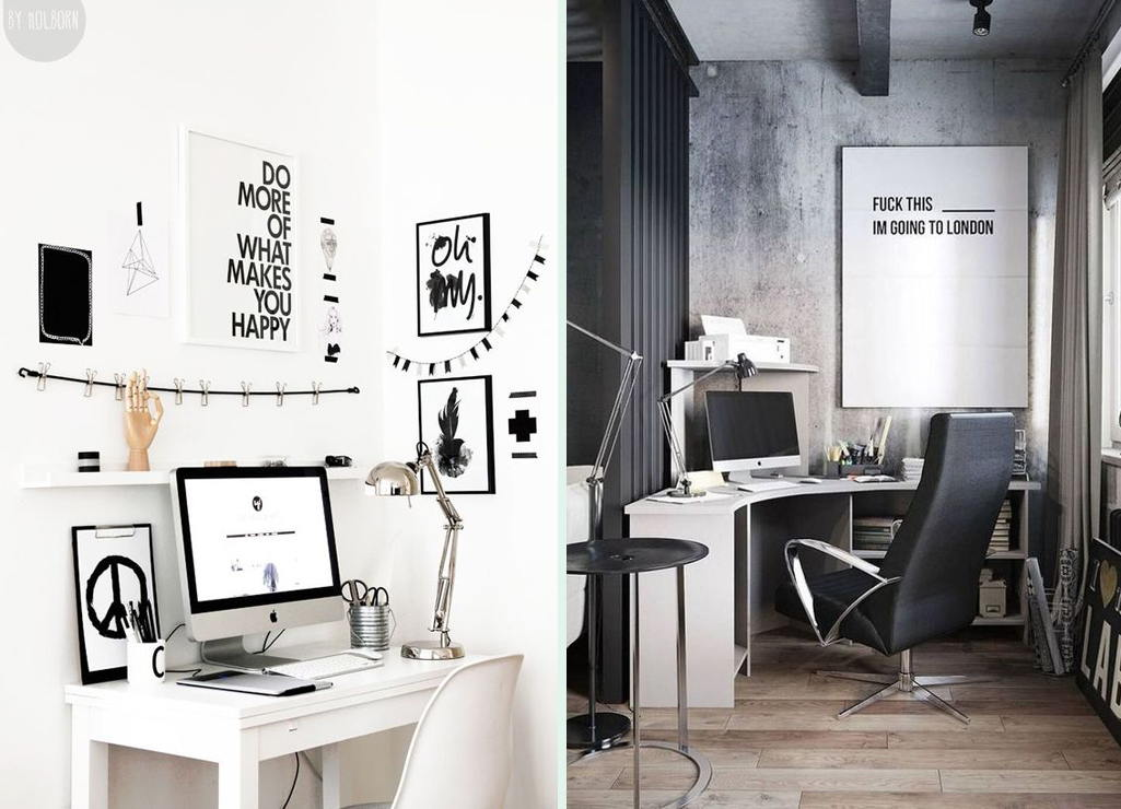 Home Office Ideas With Decoration For The Male Audience