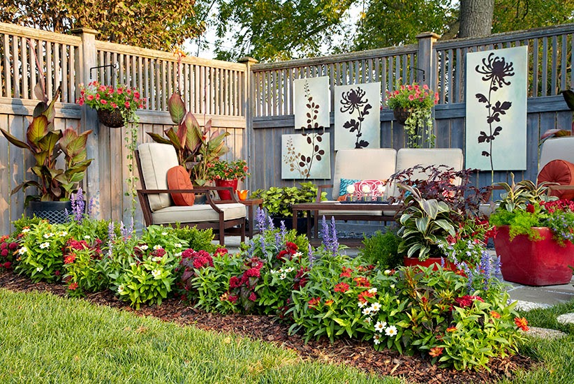 Cheap Landscaping- Use What's At Home