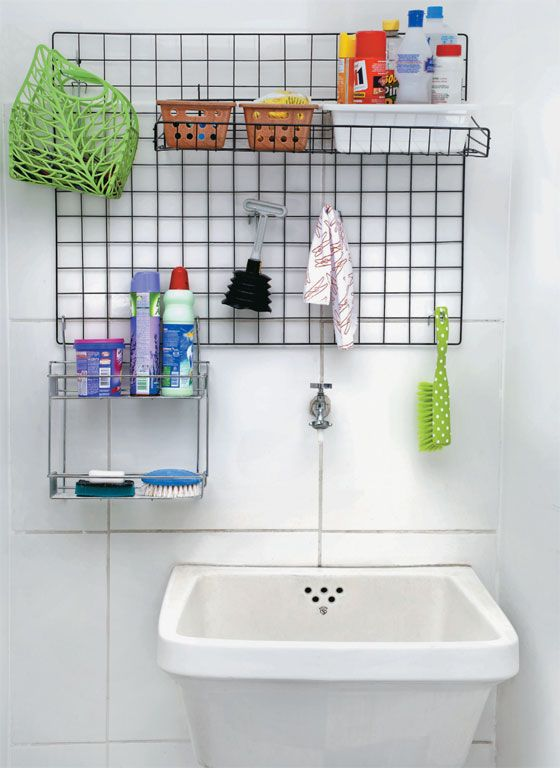 Laundry Room Small Ideas tips With Eucatex Panels And Grids