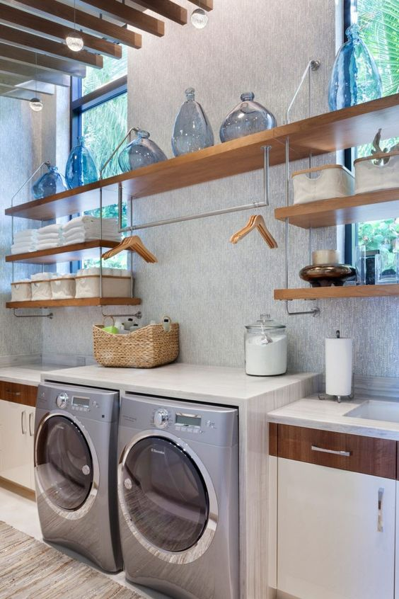 Laundry Room Small Ideas Tips With Shelves To Make The Most Of Walls