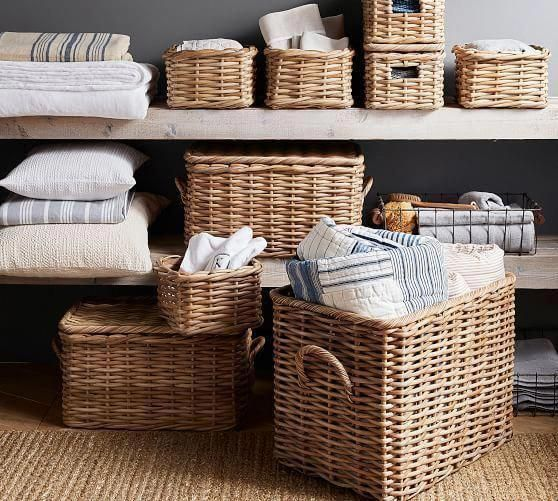 Laundry Room Ideas Storage Using Baskets