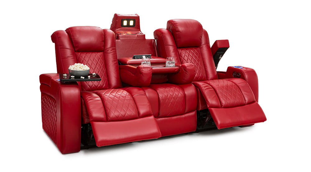 Leather Sofa Recliner With USB