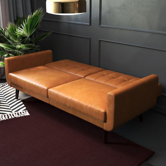 Leather Sofa Sleeper For Small Spaces