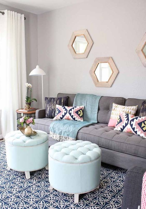Living Room Ideas With Puffs