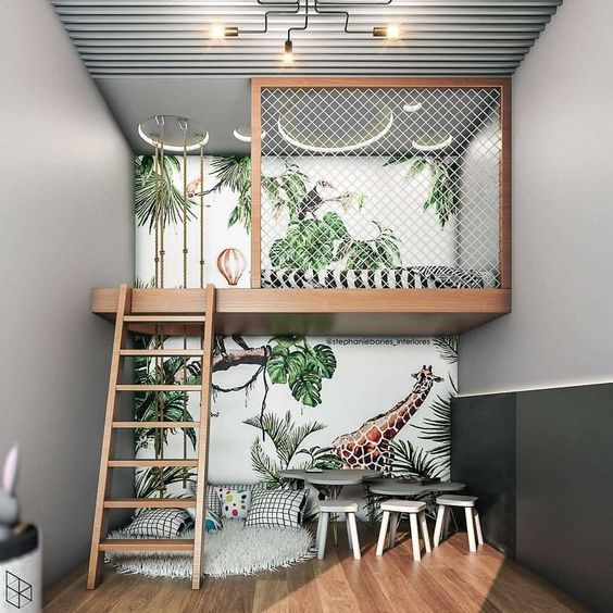What are the advantages of using the suspended loft bed