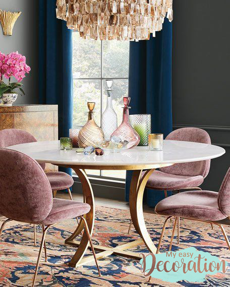 Millennial Pink In The Dining Room
