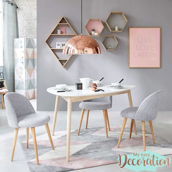 Millennial Pink And Gray Home