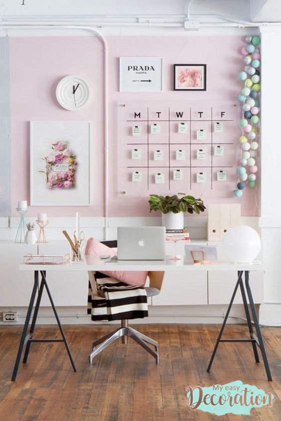 Millennial Pink At The Home Office